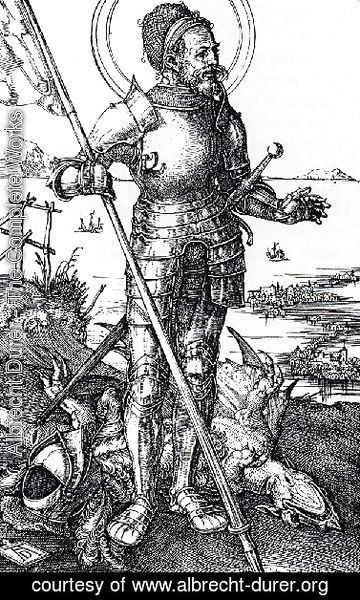 Albrecht Durer - St  George On Foot
