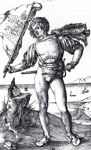 Albrecht Durer - The Standard Bearer