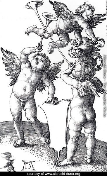 Three Putti With Shield And Helmet