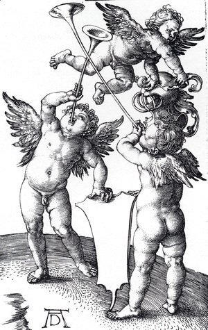 Albrecht Durer - Three Putti With Shield And Helmet
