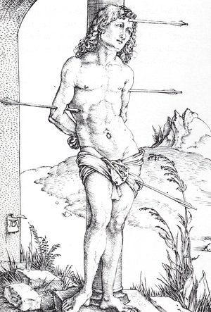 Albrecht Durer - St Sebastian At The Column   First State