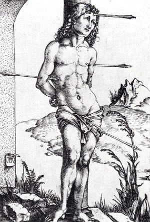 St  Sebastian At The Column