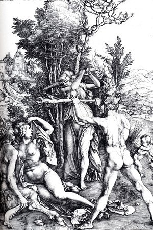 Albrecht Durer - Hercules At The Crossroads 1498