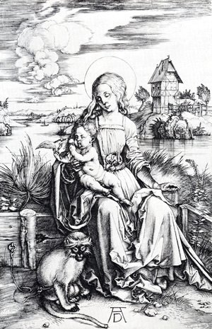 Albrecht Durer - Madonna With The Monkey