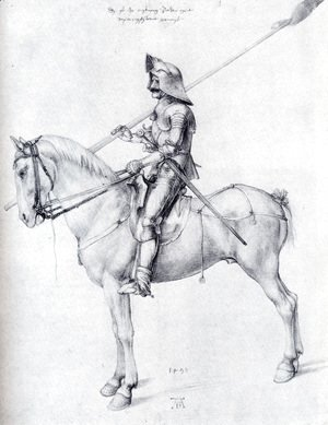 Albrecht Durer - Man In Armor On Horseback