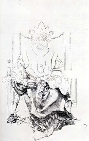 Albrecht Durer - Oriental Ruler Enthroned