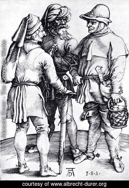 Albrecht Durer - Three Peasants In Conversation