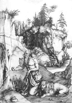 Albrecht Durer - St  Jerome Penitent In The Wilderness