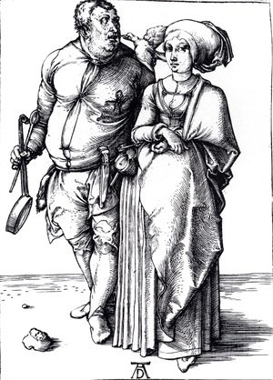 Albrecht Durer - The Cook And His Wife