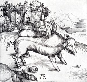 Albrecht Durer - The Monstrous Sow Of Landser