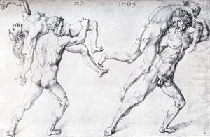 Albrecht Durer - Abduction Of A Woman (Rape Of The Sabine Women)