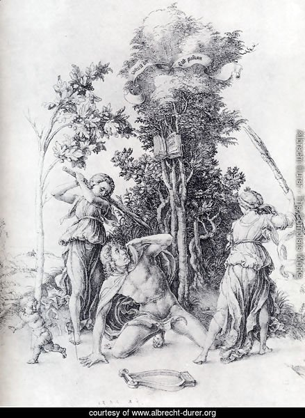 Orpheus Slain By Bacchantes  With A Boy Running Away