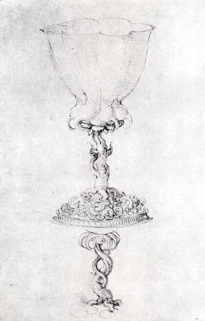Albrecht Durer - Design For A Goblet  With A Variant Of The Base