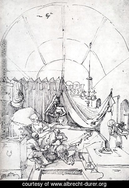 Albrecht Durer - Lying In Room