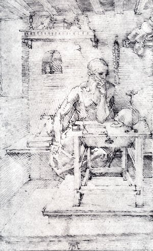 St  Jerome In His Study (Without Cardinals Robes)