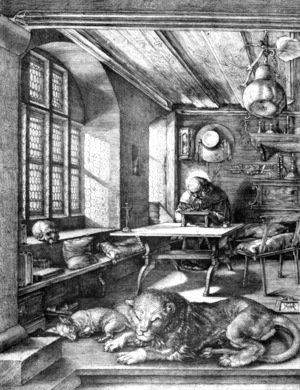 Albrecht Durer - St  Jerome In His Study 1514