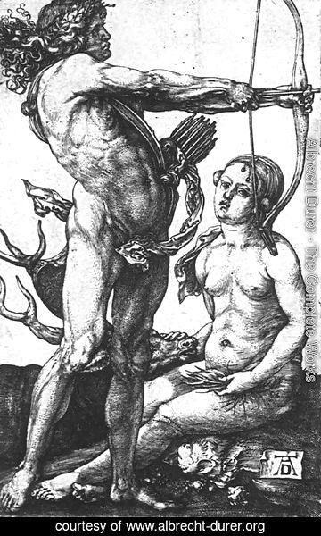 Albrecht Durer - Apollo And Diana 1505