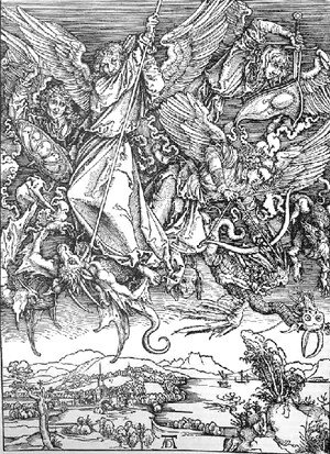 Albrecht Durer - St  Michaels Fight Against The Dragon
