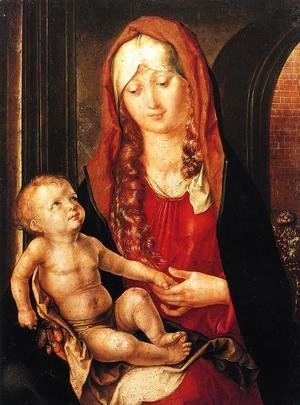 Albrecht Durer - Virgin And Child Before An Archway