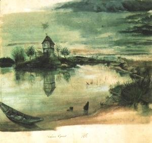 House on an Island in a Pond